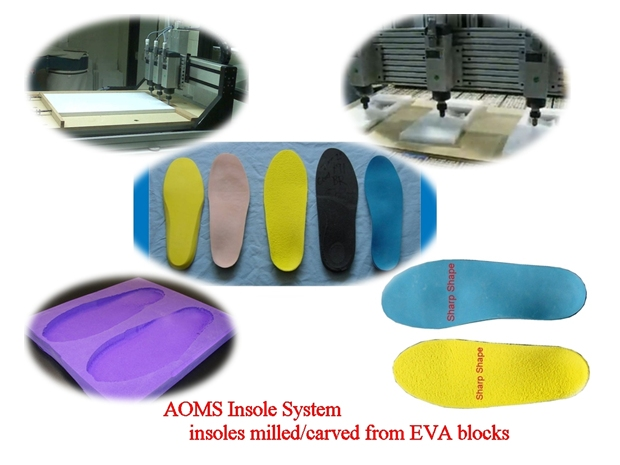 Sharp Shape AOMS Insole System - Milled EVA Insoles