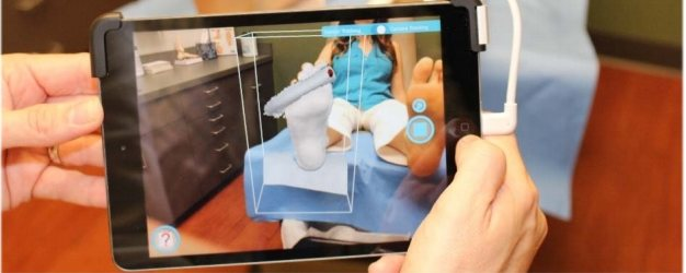 Sharp Shape AOMS TOT Foot Scanner Apple iPad App