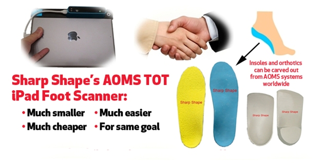 Sharp Shape AOMS TOT iPad Structure Sensor Foot Scanner Approach Vertical 2